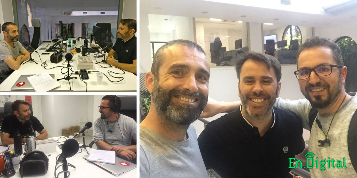 Con Miguel Caballero y Pako Rodriguez
